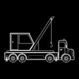 Crane on the automotive platform special machine Royalty Free Stock Photos