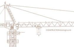 Crane Background industriel Photos libres de droits