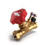 Crane Balancing-klep zonder drainage voor loodgieterswerk het 3D teruggeven Stock Fotografie