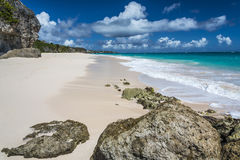 Crane Beach Barbados West Indies Royalty Free Stock Images