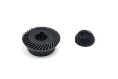 Bevel Gears. With white background royalty free stock photography