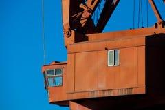 Crane in Bilbao royalty free stock photography