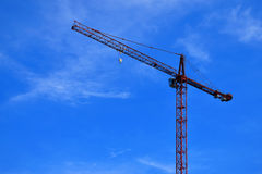 Crane in the Birmingham city center. On the clear sky Stock Image