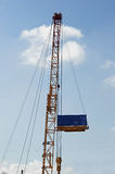 Crane with blank banner Royalty Free Stock Image