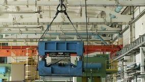 Crane blocked the goods stock video footage