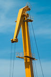 Crane on blue sky Royalty Free Stock Photography