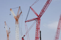 Crane with blue sky Royalty Free Stock Image