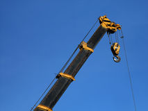 Crane in Blue Sky. Royalty Free Stock Image