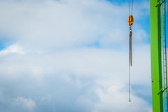 Crane in blue sky Royalty Free Stock Images