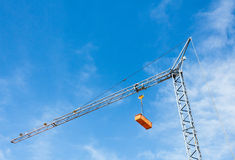 Crane and blue sky Royalty Free Stock Photo