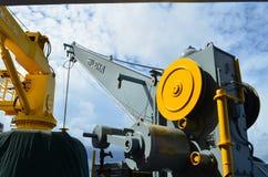 Crane in boat Stock Image