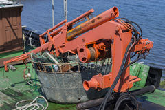 Crane boat. Royalty Free Stock Images