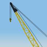 Crane boom against the blue sky Stock Image