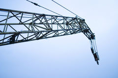 Crane boom and sky  Royalty Free Stock Photography