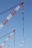 Crane boom with steel hook royalty free stock image