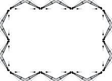 Crane Border. Black and white construction crane frame Stock Photography