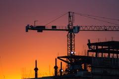 crane budowlanych Obrazy Royalty Free