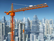 crane budowlanych Zdjęcia Royalty Free
