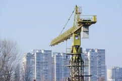 crane budowlanych Tylni część budowa żuraw Betonów ciężary Zdjęcie Royalty Free