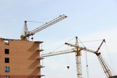 crane budynku Obrazy Royalty Free