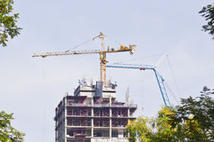 Crane on a building Royalty Free Stock Photography