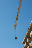 Crane building apartment blocks Stock Image
