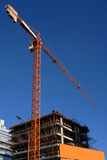 Crane at a building construction Stock Photo