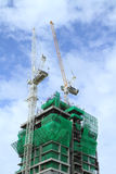 Crane and building construction Royalty Free Stock Photography