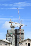 Crane  and building construction Royalty Free Stock Images