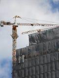 Crane Building Construction Fotografía de archivo libre de regalías
