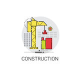 Crane Building Construction Engineering Icon Imagens de Stock