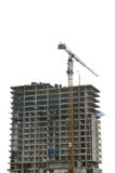 Crane on a building in construction Royalty Free Stock Image