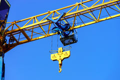 Crane and building construction site against the sky Stock Images