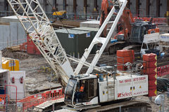 Crane and building construction site, Holborn aria Royalty Free Stock Images