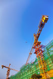 Crane and Building Construction Site Royalty Free Stock Photos