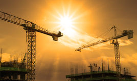 Crane and building construction Stock Photography