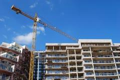 Crane Building House Stock Image