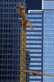 Crane in a building site royalty free stock image