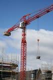 Crane at building site Stock Photos
