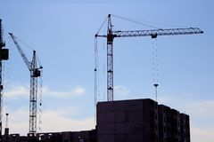 Crane  on building site Royalty Free Stock Photography
