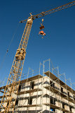 Crane and building site Stock Images