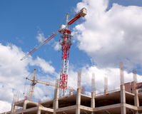 Crane and building under construction Royalty Free Stock Photo