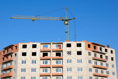 Crane and building under construction Stock Image