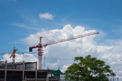 Crane and building under construction against Stock Images