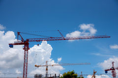 Crane and building under construction against Stock Photos