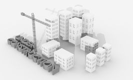 Crane and buildings Royalty Free Stock Image
