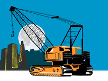 Crane with buildings Stock Image