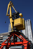 Crane and buildings in Puerto Madero Royalty Free Stock Photography