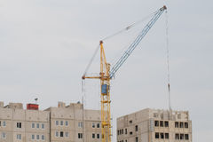 Crane builds the building Stock Photography
