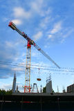 The crane builds the house Stock Image